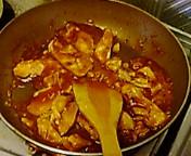 蒸し鶏のチリソース