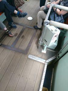 路面電車の床
