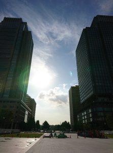 東京駅から反対を見た風景
