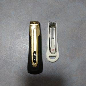 爪切りの大きさの比較