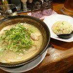 尼崎にある東昇軒で豚骨ラーメンとミニチャーハンを食べてきた
