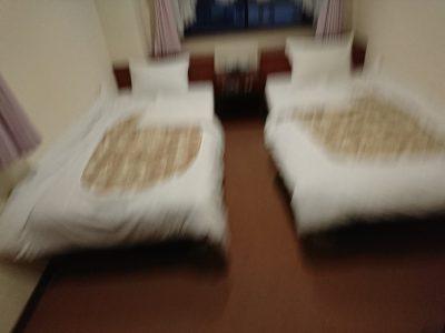 二人部屋を一人で使った