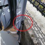 駐車場でドアの傷を防ぐドアガードを買った